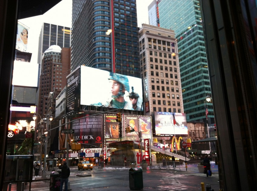 Times Square Launch